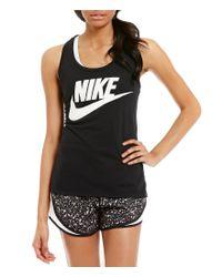 Nike | Black Sportswear Essential Tank | Lyst