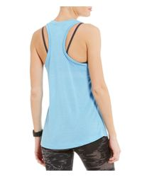 Nike - Blue Sportswear Essential Tank - Lyst