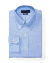 Polo Ralph Lauren | Blue Non-iron Fitted Classic-fit Pinpoint Oxford Button-down Collar Dress Shirt for Men | Lyst