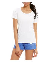 Nike | White Dry Training Short Sleeve T-shirt | Lyst
