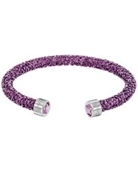Swarovski | Purple Limited-edition Heart Crystal Dust Cuff Bracelet | Lyst