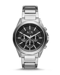 Armani Exchange | Metallic Ax Armani Exchange Drexler Chronograph Stainless Steel Bracelet Watch for Men | Lyst