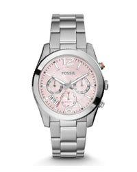 Fossil | Metallic Perfect Boyfriend Sport Multifunction Stainless Steel Bracelet Watch | Lyst