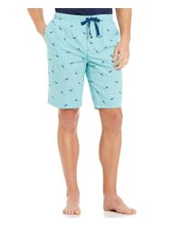 Tommy Bahama | Blue Woven Check Marlin-print Pajama Shorts for Men | Lyst