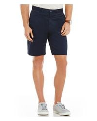 Original Penguin | Blue P55 Stretch Straight-fit Flat-front Shorts for Men | Lyst