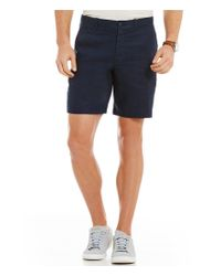Original Penguin | Blue Slim-fit Flat-front Washed Linen Shorts for Men | Lyst