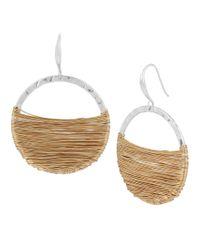 Robert Lee Morris   Multicolor Wire-wrapped Drop Hoop Earrings   Lyst