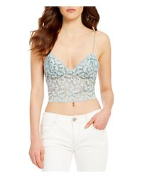 Free People | Multicolor Lacey Cropped Lace Camisole | Lyst