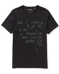 Guess   Black Short-sleeve Basic Scatter Logo Graphic Tee for Men   Lyst