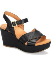 Kork-Ease | Black Adelphi Wedge Sandals | Lyst