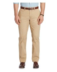 Polo Ralph Lauren | Natural Big & Tall Classic-fit Flat-front Bedford Chino Pants for Men | Lyst