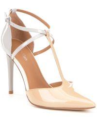 Calvin Klein | Multicolor Savannah Patent Leather Color Block T-strap Dress Pumps | Lyst