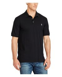 Polo Ralph Lauren | Black Big & Tall Classic-fit Stretch Mesh Short-sleeve Polo Shirt for Men | Lyst