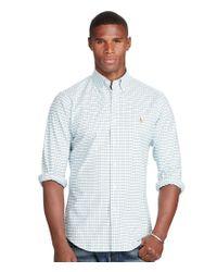Polo Ralph Lauren | Blue Slim-fit Tattersall Plaid Stretch Oxford Shirt for Men | Lyst