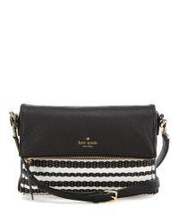 kate spade new york | Black Cobble Hill Collection Marsala Straw Cross-body Bag | Lyst