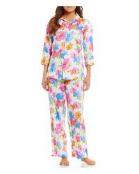 Lauren by Ralph Lauren | Multicolor Floral Sateen Pajamas | Lyst