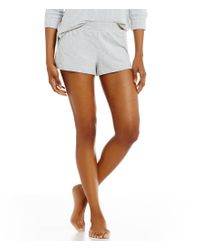 Jane & Bleecker New York | Gray Jane & Bleecker French Terry & Lace Sleep Shorts | Lyst