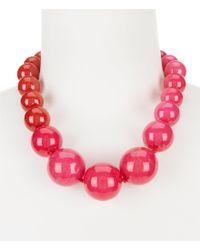 Trina Turk | Pink Havana Club Jade Statement Necklace | Lyst