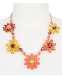 kate spade new york | Multicolor Brilliant Bouquet Statement Necklace | Lyst