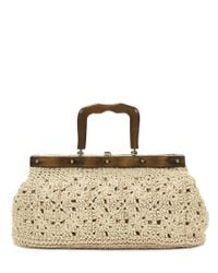 Patricia Nash - Natural Carmen Straw Crochet & Wood Satchel - Lyst