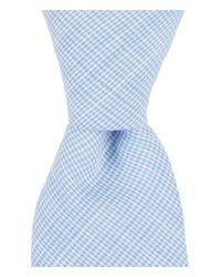 Original Penguin | Blue Merritt Houndstooth Skinny Cotton Tie for Men | Lyst
