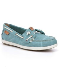 Sperry Top-Sider - Pink Coil Ivy Canvas Boat Shoes - Lyst