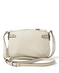 Lauren by Ralph Lauren - Natural Easby Collection Cecilia Snake-embossed Cross-body Bag - Lyst