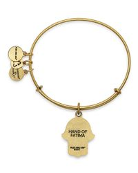 ALEX AND ANI - Metallic Hand Of Fatima Charm Bangle Bracelet - Lyst