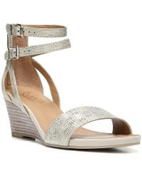 Franco Sarto | Multicolor Danissa Metallic Wedge Sandals | Lyst