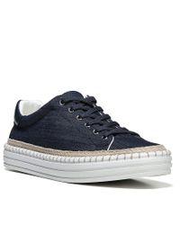Sam Edelman   Blue Kavi Denim Sneakers for Men   Lyst