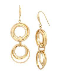 Robert Lee Morris | Metallic Double-drop Earrings | Lyst