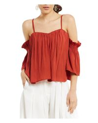 Gianni Bini - Red Tammy Cold Shoulder Blouse - Lyst