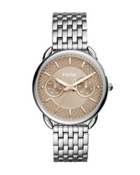 Fossil | Metallic Tailor Multifunction Bracelet Watch | Lyst