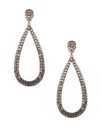 Nadri - Black Grey Pave Drop Earrings - Lyst