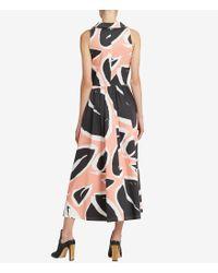 Donna Karan - Multicolor New York Tie Waist Sleeveless Shirt Dress - Lyst