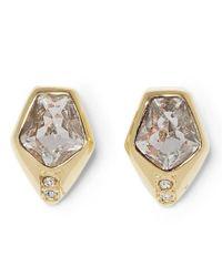 Vince Camuto - Metallic Faux-crystal Stud Earrings - Lyst