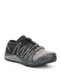 Merrell Black Bare Access Flex Knit Sneakers