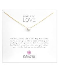 Dogeared - Metallic Pearls Of Love Freshwater Pearl Delicate Gold Dipped Necklace - Lyst