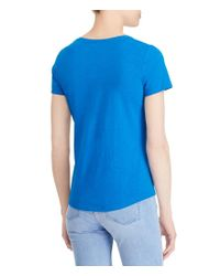 Lauren by Ralph Lauren - Blue Twisted Pocket T-shirt - Lyst