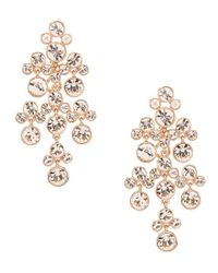 Givenchy - Metallic Rose Gold Chandelier Earrings - Lyst