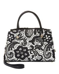 Betsey Johnson - Black Lady Lace Bow Satchel - Lyst