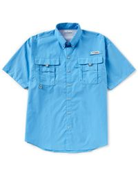 eb8271e86fb Lyst - Columbia Pfg Bahama Ii Solid Short-sleeve Shirt in Blue for Men