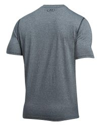 Under Armour - Gray Threadborne V-neck Short-sleeve Tee for Men - Lyst