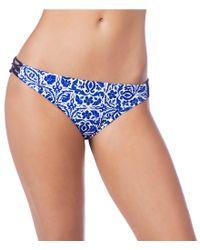 Nanette Lepore - Blue Talavera Charmer Bikini Swimsuit Bottom - Lyst