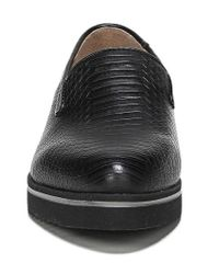 Franco Sarto - Black Fabrina Snake Embossed Loafers - Lyst