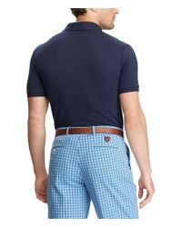 Polo Ralph Lauren - Blue Polo Golf Active-fit Lisle Novelty Short-sleeve Polo Shirt for Men - Lyst