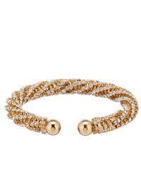 Cezanne - Metallic Twist Bracelet - Lyst