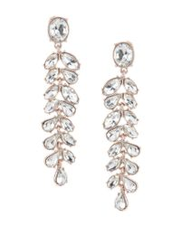 Belle By Badgley Mischka - Metallic Small Navette Linear Statement Earrings - Lyst
