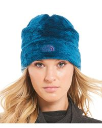 The North Face - Blue Denali Thermal Fleece Beanie - Lyst