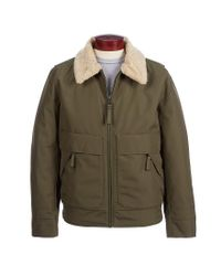 Andrew Marc - Green Aviator Bomber Jacket for Men - Lyst